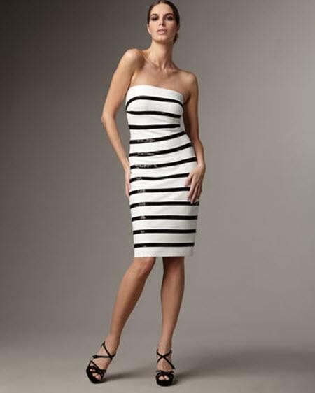 Gray Stripe Dress