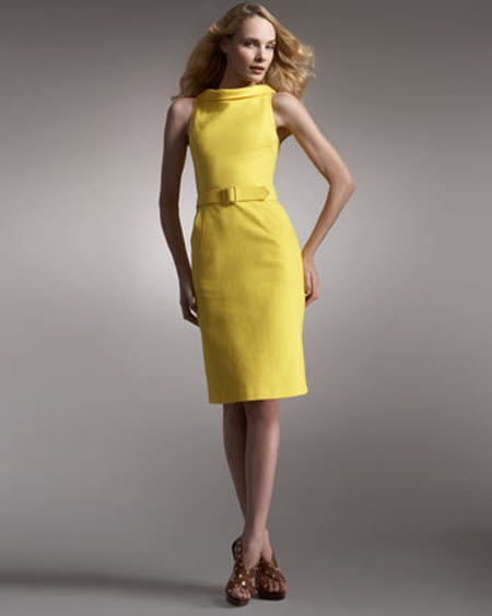 David Meister Cowl Neck Dress