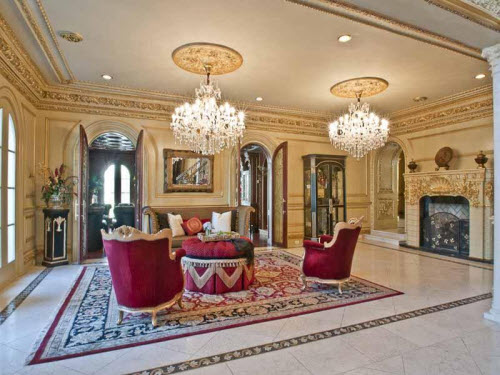 Estate of the day 19 9 million palatial mansion in for Million dollar living rooms