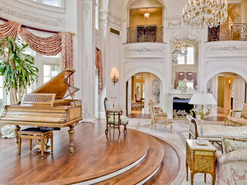 Sala do Piano 35-Million-Champ-dOr-Mansion-in-Hickory-Creek-Texas