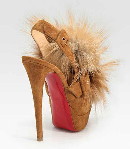 brand new unisex cheap price original Christian Louboutin Splash Fox Fur Sandals gftUo58xx
