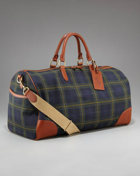 Ralph Lauren RL Tartan Collection Plaid Duffel Bag 7e57e7a984