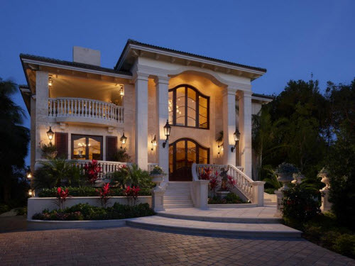 Estate of the day 14 5 million elegant mansion in key for Custom mansions