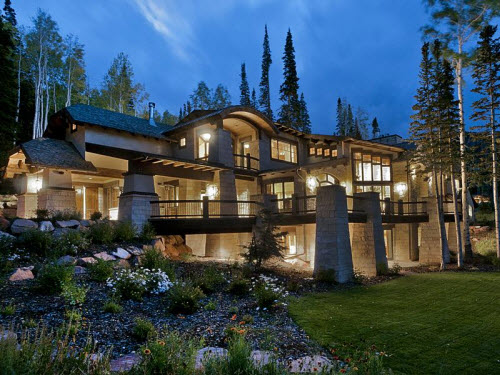Estate of the day 7 3 million contemporary mountain for Modern mountain homes