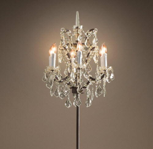 restoration hardware 19th century rococo iron crystal floor lamp 2. Black Bedroom Furniture Sets. Home Design Ideas