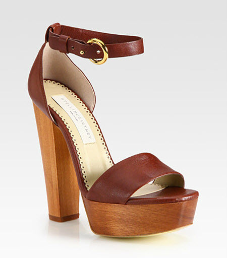 shoe of the day stella mccartney faux leather and wooden