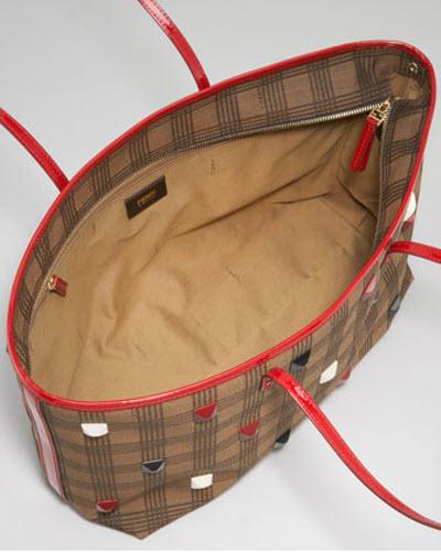 deefb82c89 ... italy fendi studded plaid roll bag a5d6e 8bfa0