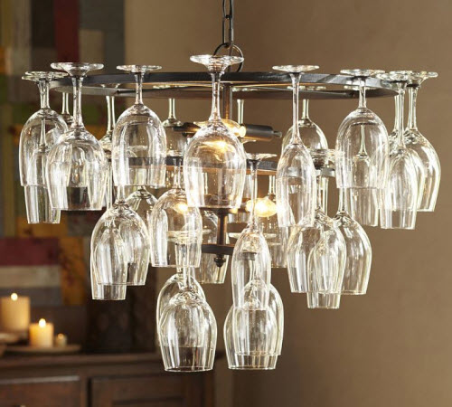 Pottery barn wine glass rack chandelier mozeypictures Choice Image