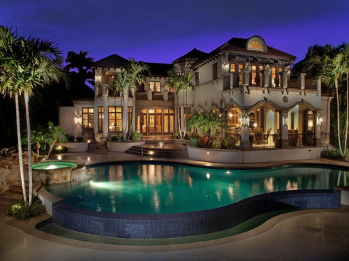 Estate of the day 11 9 million mediterranean estate in for Beautiful homes in florida