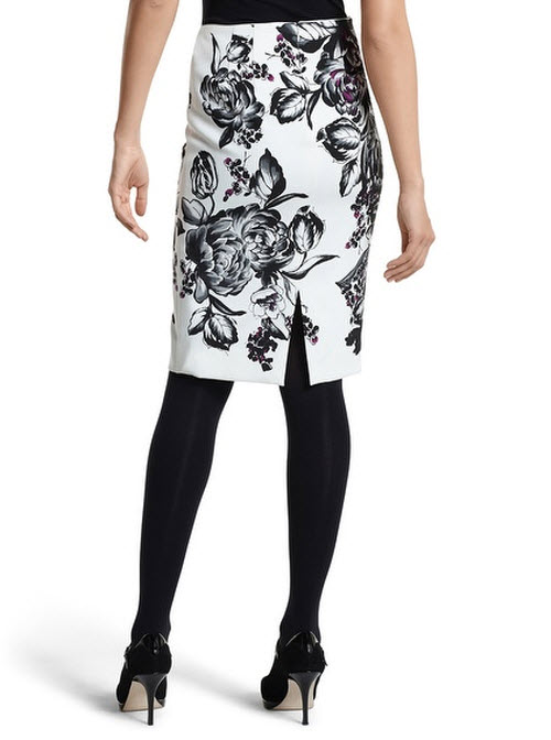 Petite black faux-leather pencil skirt Save. Was £ Now £ Oasis Multi colour clash stripe midi skirt White floral pleated midi skirt Save. Was £ Then £ Now £ > Noisy may Black floral print midi skirt Save. Was £ Now £ Mango Black checked 'Pleat' midi skirt.