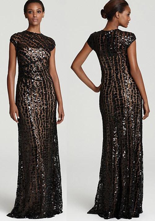 David Meister Sequin Gown