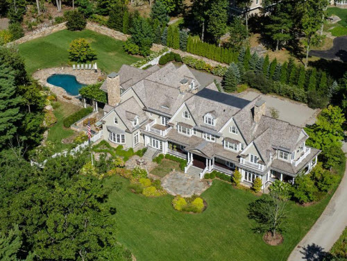 Estate of the day 17 million country elegance in for Building a house in ct