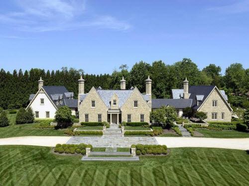 $8.7 Million Stone Manor in Great Falls Virginia