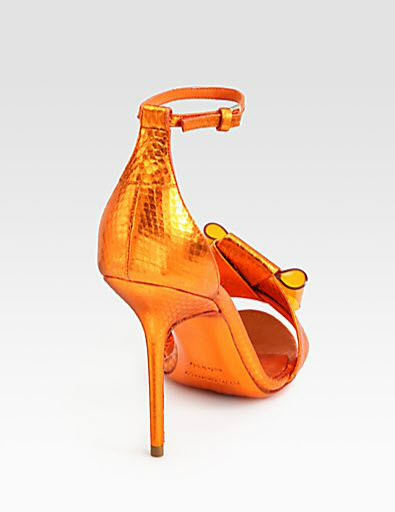 Burberry Prorsum Berkeley Snakeskin Bow Sandals 2