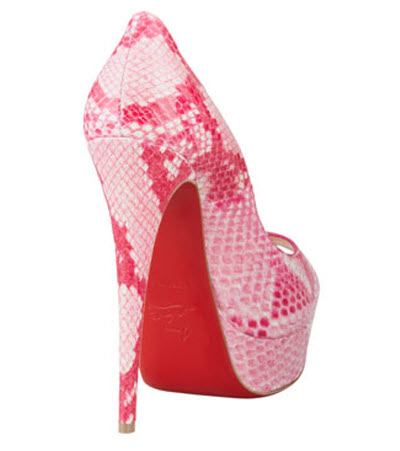 Christian Louboutin Lady Peep Python Red Sole Pump 2