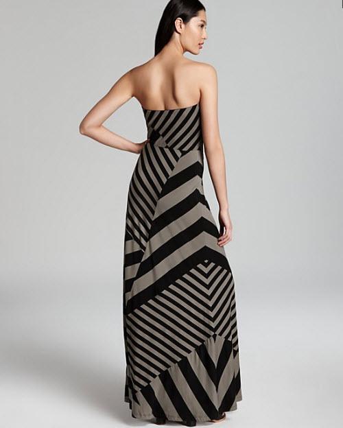 DKNY Strapless Maxi Dress 2