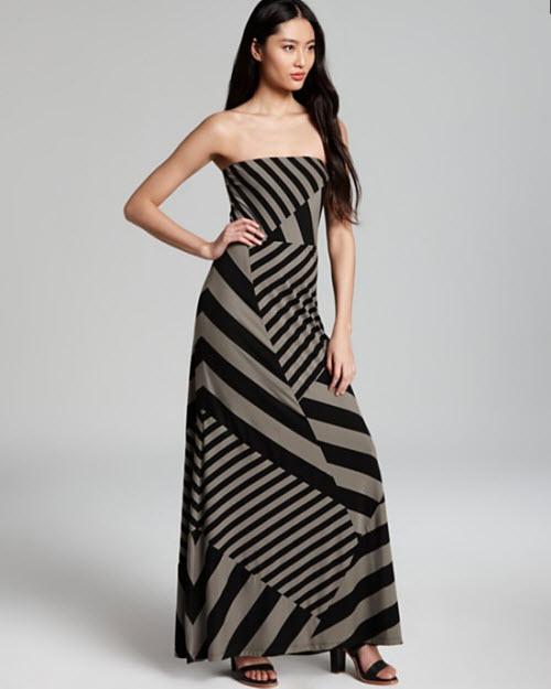 DKNY Strapless Maxi Dress