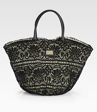 Dolce & Gabbana Lace Basket Bag