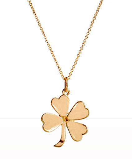 Jennifer meyer gold four leaf clover pendant necklace aloadofball Image collections