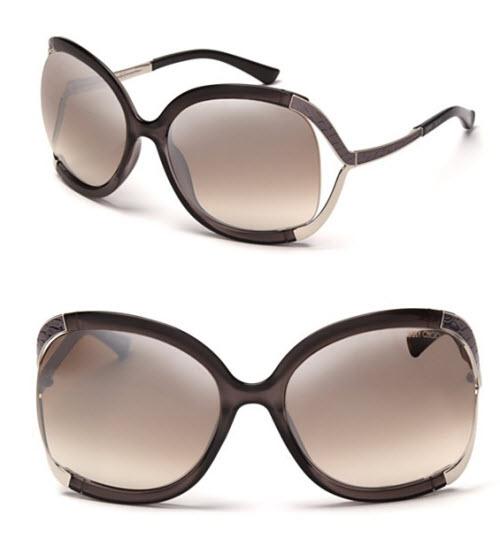 Jimmy Choo Oversized Open Temple Sunglasses
