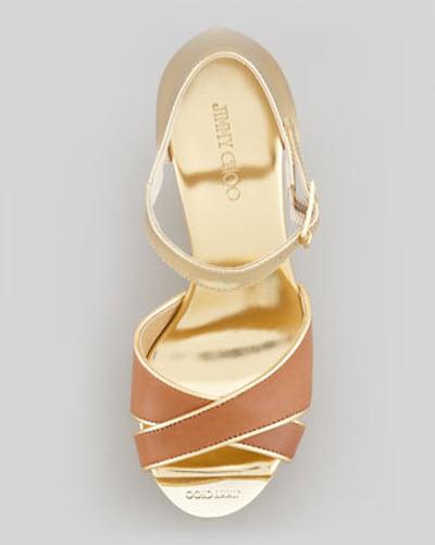 Jimmy Choo Pape Mirrored Wedge Sandal 2