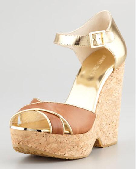 Jimmy Choo Pape Mirrored Wedge Sandal