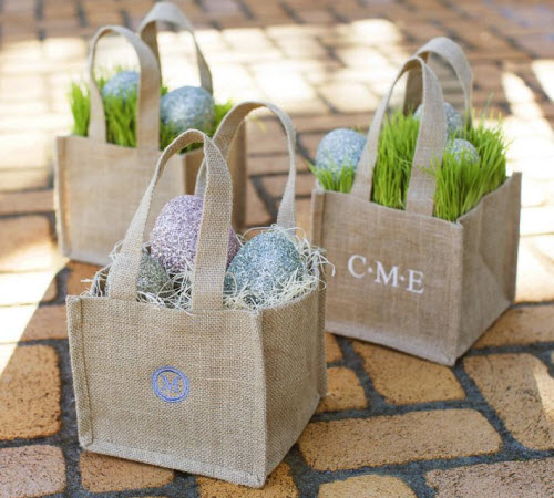 Pottery Barn Personalized Outdoor Burlap Bag
