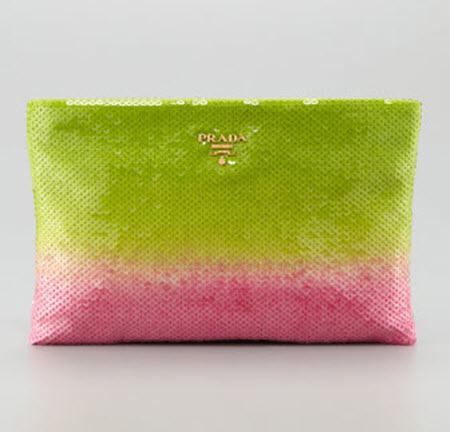 Prada Degrade Sequin Pouch Clutch Bag