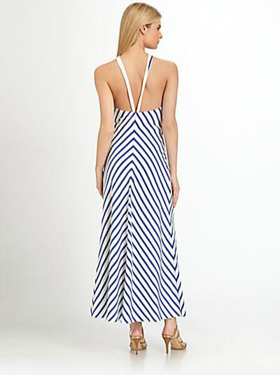 Ralph Lauren Black Label Silk Chevron Stripe Juliet Dress 2