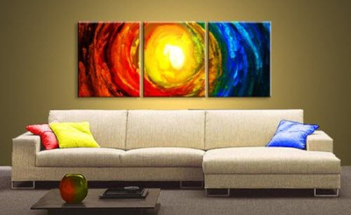 The Elements Modern Abstract Art on Canvas 2