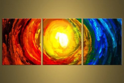 The Elements Modern Abstract Art on Canvas