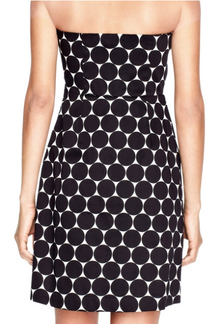 The Limited Strapless Dot Dress 3