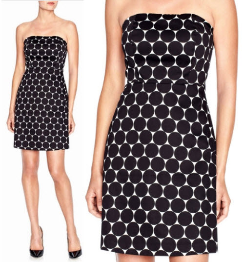 The Limited Strapless Dot Dress 4