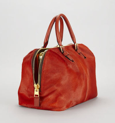 Tom Ford Petra Zip Frame Calf Hair & Brushed Calf Leather Tote Bag-in-Bag 2