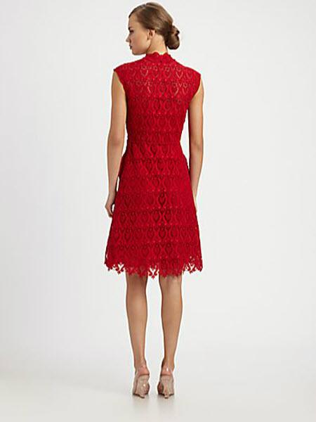 Valentino Macramé Lace Dress 2