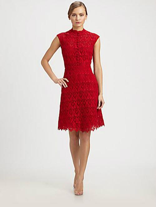 Valentino Macramé Lace Dress