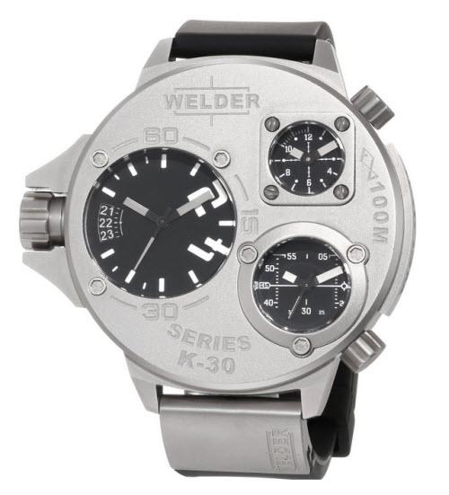 Welder Unisex 9000 K30 Oversize Three Time Zone Watch