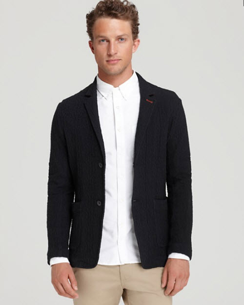 Wings + Horns Double Pocket Jacquard Blazer