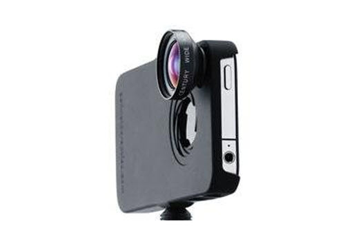 iPro Lens System for Apple iPhone 4 & 4S with Cases, Handle, Fisheye & Wide-Angle Lenses