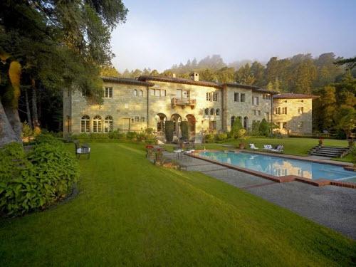 $15.8 Million Villa Lauriston in Portola Valley California