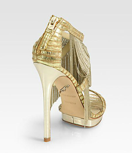 B Brian Atwood Cassiane Chain Fringe Platform Sandals 2
