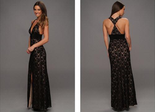 BCBGMAXAZRIA Serafina Lace Evening Gown 2