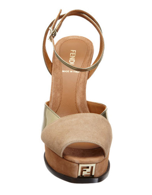 Fendi Fendista Platform Wedge Sandal 2