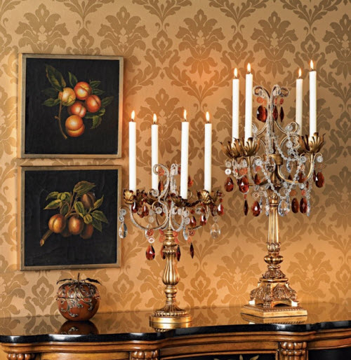French Taper Droplets Candelabra 2