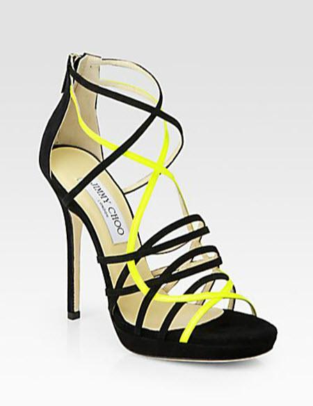 Jimmy Choo Myth Suede & Leather Platform Sandals