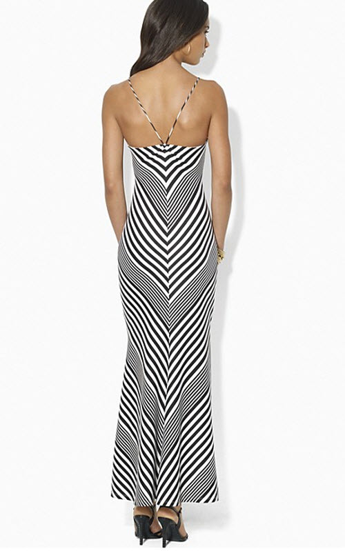 Lauren Ralph Lauren Striped Jersey Maxi Dress 2
