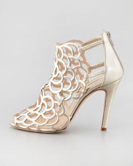 Oscar dela Renta Gladia Metallic Sandal 2