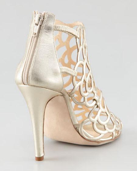 Oscar dela Renta Gladia Metallic Sandal 3