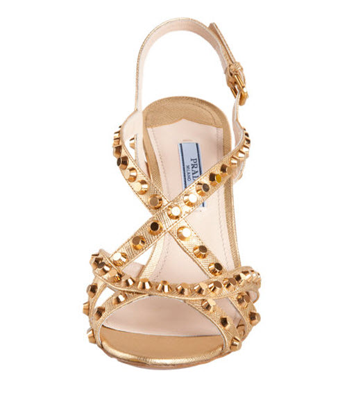 Prada Multi Strap Studded Wedge 2