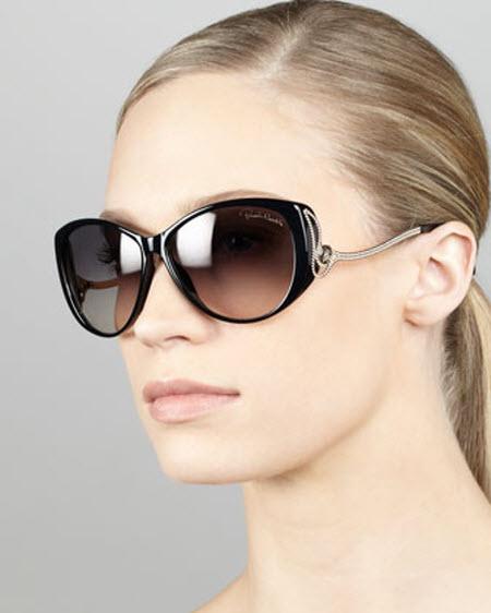 Roberto Cavalli Drop-Temple Cat-Eye Sunglasses
